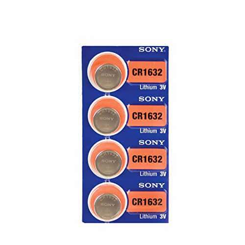 4 PACK SONY CR1632 ECR1632 3 Volt Lithium Watch Coin Cell Battery (4 Batteries)