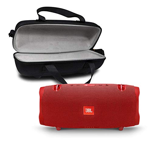 JBL Xtreme 2 Portable Bluetooth Waterproof Speaker Bundle with Hardshell Storage Case - Red