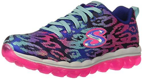 Skechers Mover 'N Groove Sparkle Spinner Zapatillas Para Niñas, Color Azul, Talla 11 Uk Child