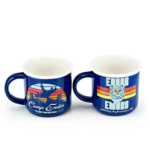 Star Wars Camp Endor Retro Mugs | Ewok Forest Camp of Endor Cups | Set of 2 Mugs