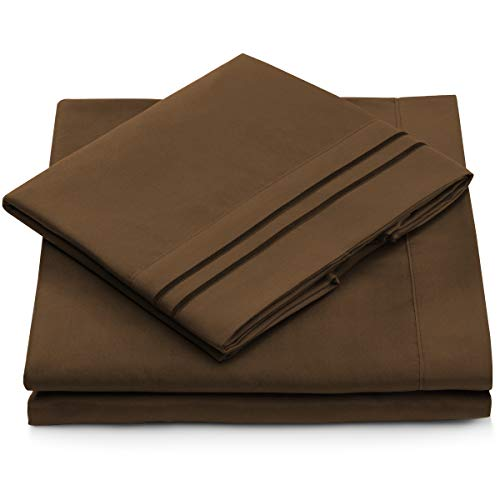 California King Sheet Set - Chocolate Cal King Size Bedding - Deep Pocket - Extra Soft Luxury Hotel Bed Sheets - Hypoallergenic - Cool & Breathable - Wrinkle, Stain, Fade Resistant - 4 Piece