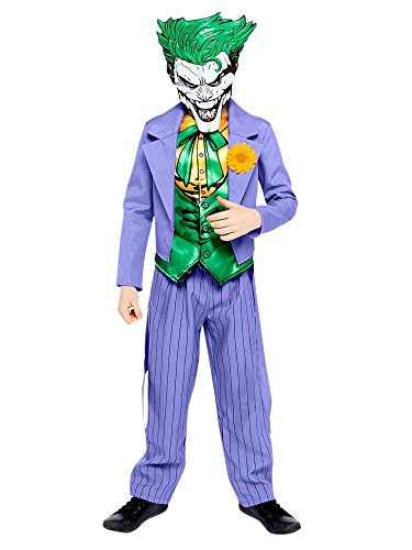 Amscan 9907610 Disfraz de Joker cómic para Halloween de 8 a 10 años