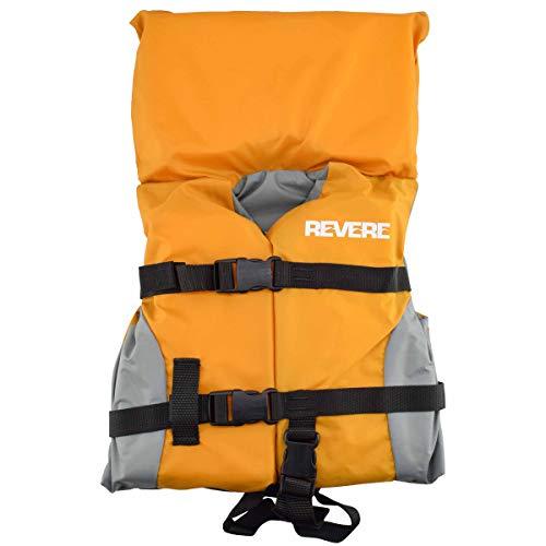 Revere Orange Grey Kids Infant Life Jacket Children Boat Swimming Swim Safety Vest PFD -  224111OGRIF