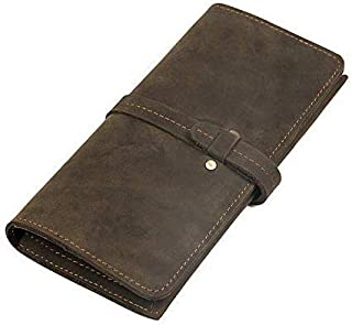 Wallet For Men Men's Wallet Leather Long Wallet Leather Retro Fashion Wallet (Color, Bronze, Size, S),Bronze,Small
