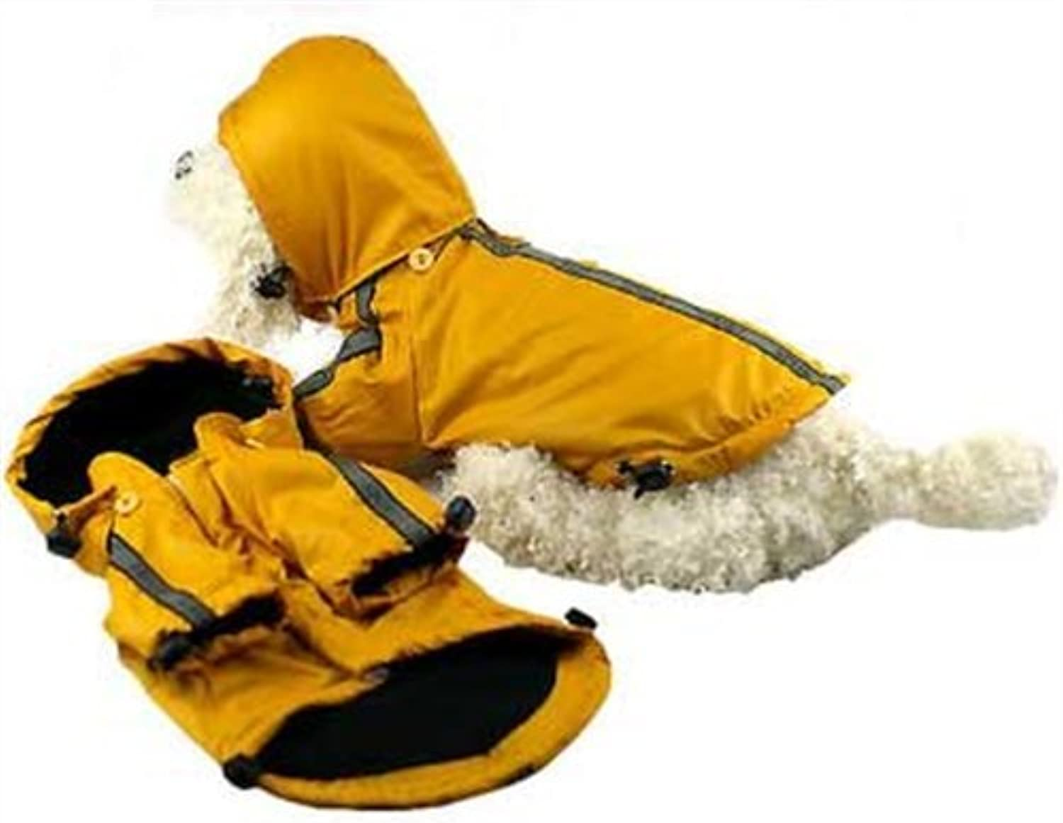 Pet Life ReflectaSport Rain Jacket, Yellow, Large