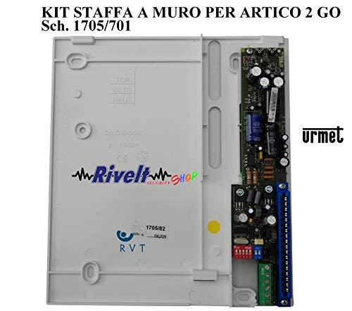 Urmet 1705/701 Kit de soporte de pared para instalaciones de videoportero para monitor modelo Artico instalaciones 2GO