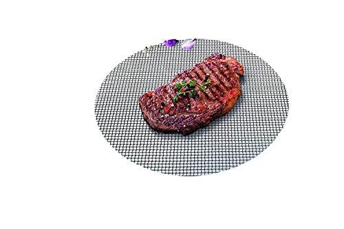 Durandal Grillmatte rund 48 cm | Wiederverwendbare BBQ Grillmatte für Gasgrill & Holzkohlegrills mit Antihaftbeschichtung | Ideales Grillrost Zubehör