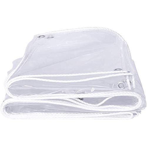 LBBGM Lona Transparente, Lona Transparente Impermeable Exterior, Lona Alquitranada, Lona Plástico, Toldos Lona Alquitranada Cubierta, Duradera con Ojales(1.4x2m(4.6x6.6ft))