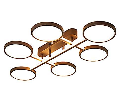 Led plafondlampen Elegant Mode slaapkamer woonkamer plafondlamp industrieel ontwerp restaurant eettafel keuken deco jeugdstijl plafondverlichting, persoonlijkheid koffie tinten metalen frame 6 licht