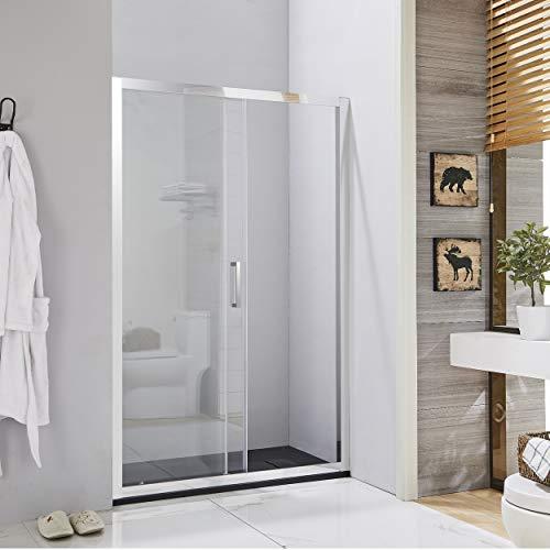 Box doccia porta scorrevole per nicchia profilo cromato altezza 190 cristallo 6mm anticalcare (140 cm)
