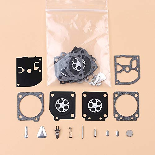Fjiujin 2 Kit de reparación de diafragma de carburador Fit for STIHL 020 020T MS191 MS192T MS200 MS200T Husqvarna 113LLD 123C 123L 322L 323L Zama C1Q Carber