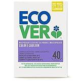 Ecover Detergente en polvo concentrado de lavanda (3 kg/40 lavados), detergente de color con ingredientes a base de plantas, detergente en polvo para ropa natural pura de color, 3 kg