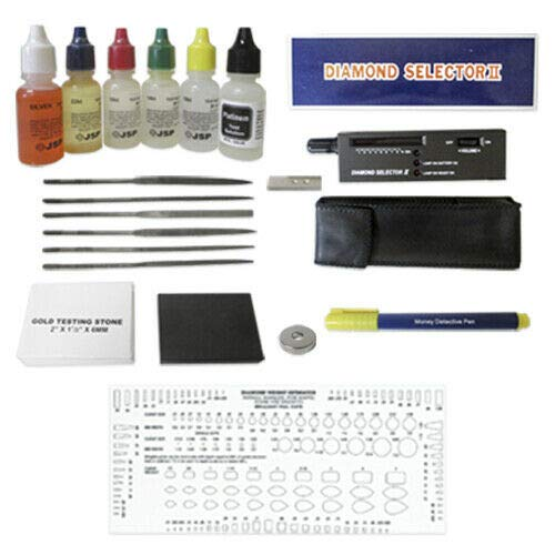 Gold Silver & Diamond Tester Gemstone Testing KIT Electronic Test 6 Solutions