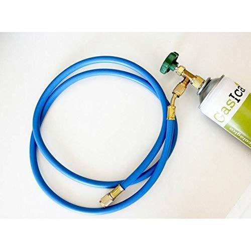 REPORSHOP - Umweltfreundliches Gas D2 312G + Ventil + Schlauch ersetzt R12/R134A Freeze