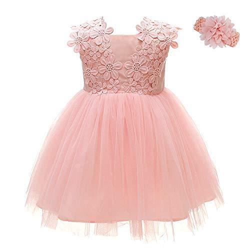 FUTURE FOUNDER Baby Mädchen Prinzessin Kleid Blumenmädchenkleid Taufkleid Festlich Kleid Hochzeit Partykleid Festzug Babybekleidung