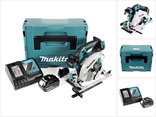 Makita DHS 680 RT1J Akku Handkreissäge 18V 165 mm im Makpac + 1x 5,0Ah Akku + Ladegerät