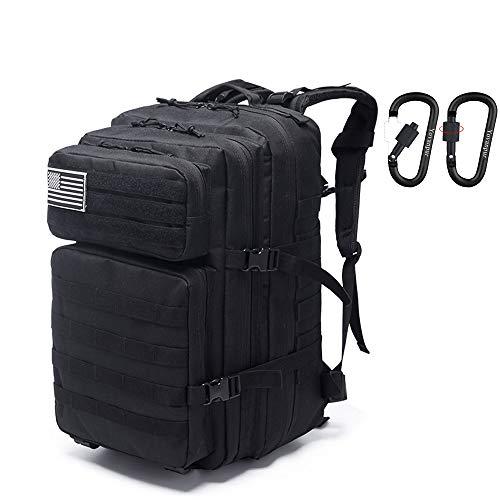 Yovanpur, mochila táctica militar multifunción, 36 L, paquete de asalto militar Molle, mochila para camping, senderismo y trekking (negro), color Negro (, tamaño L, volumen 36.0liters