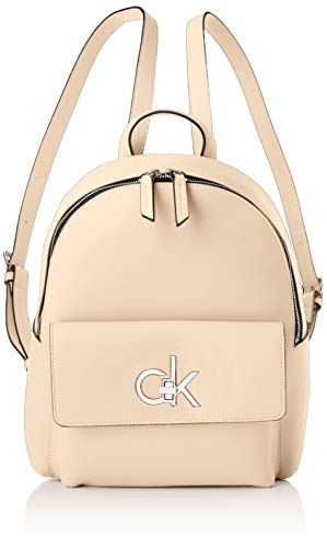 Calvin Klein Damen RE-Lock Backpack SM Rucksack Pink (Light Sand)