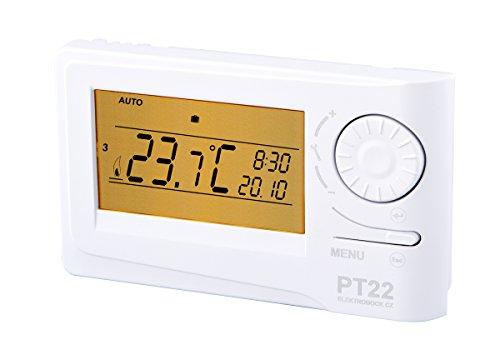 Elektrobock PT22 Digitaler Raumthermostat, weiss, 15,5x11x4 cm