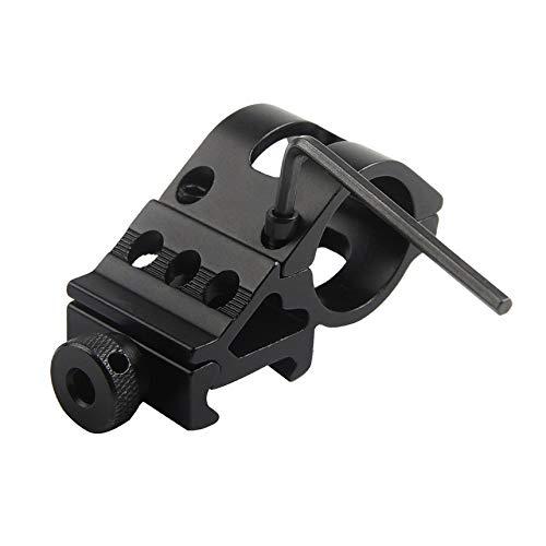 Jcstarrie 30mm Offset-Taschenlampenhalterung Schienenmontage Taktische Taschenlampenhalterung (Schwarz)