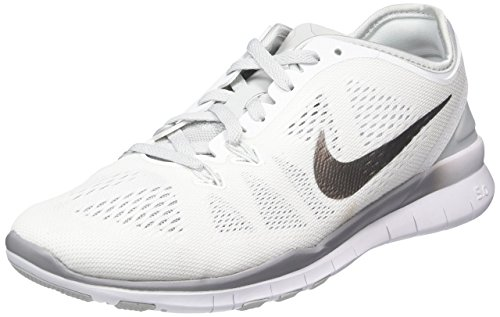 Nike Free 5.0 TR Fit 5 Women's Cross Training Shoes (11.5, White/Pure Platinum/Metallic Silver)
