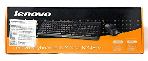 Lenovo KM4802 Wired Keyboard and Mouse