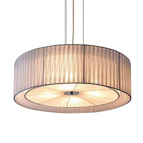 Lámpara de techo redonda con pantalla grande de doble tela, 4 luces colgantes, para salón, dormitorio, sala de estudio