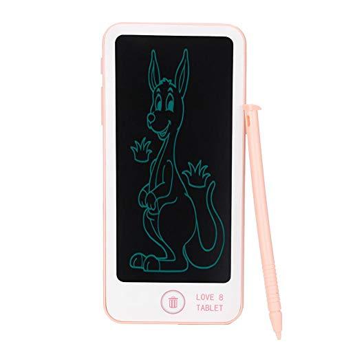 Allsor Tablero de Doodle LCD, Tableta de Escritura LCD de plástico, Protección de Ojos Forma de teléfono Niños pequeños para niños Que estudian la Escritura de Dibujo(Pink)
