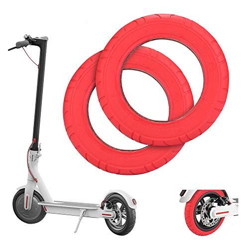 Wovatech Neumático Scooter Eléctrico | Rueda de Repuesto Delantera/Trasera de 10/8.5 Pulgadas | Neumático de Goma de Nido de Abeja para Xiaomi M365 / M365 Pro
