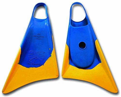 Makapuu- Aletas de natación, Color Amarillo/Azul (Churchill 86140)
