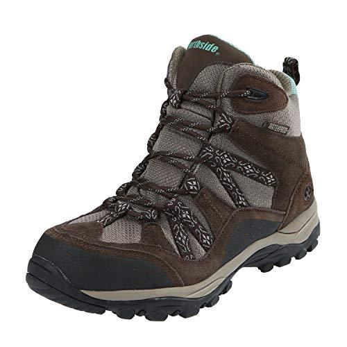Northside Women's Freemont Waterproof Hiking Boot, Dark Brown/Sage, 9 M US