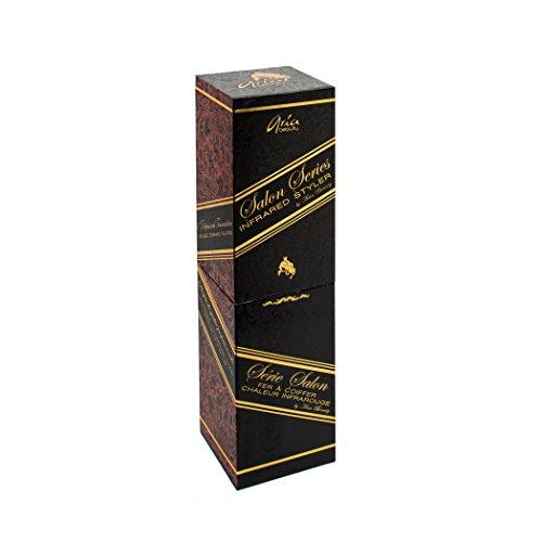 Aria Beauty Salon Series Infrared Styler Black - Plancha profesional de cerámica con tecnología de infrarrojos (1,25 pulgadas)