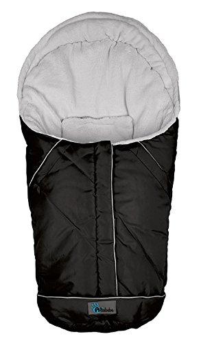 Altabebe AL2003-12 Winterfußsack Nordic Kollektion für Babyschale und Car Seat, Gruppe 0+, schwarz-hellgrau