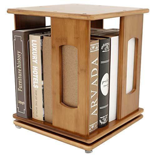 Librería giratoria estantería bambú Natural, Organizador