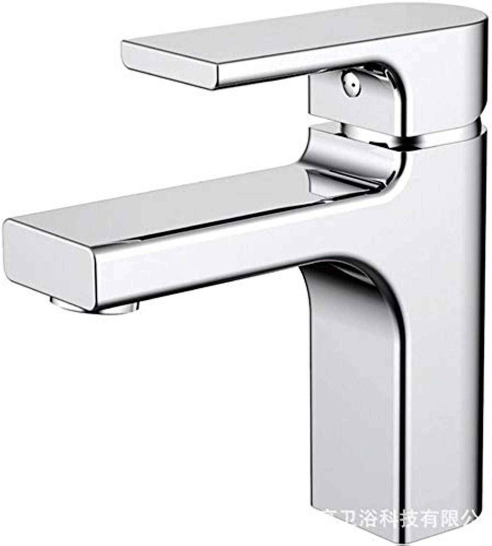 ROTOOY Wasserhhne Wasserhahn Bad Becken Wasserhahn Messing Becken Wasserhahn Hei Und Kalt Mischbatterie Becken Wasserhahn Chrom Wasserhahn