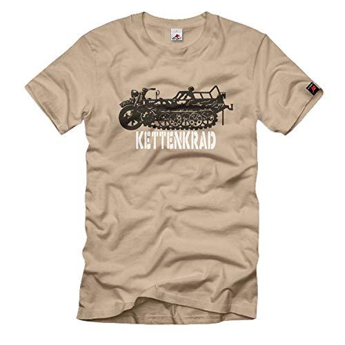 Rueda de cadena Krad Wh, pequeña cadena de tracción, tipo 101 Sd, vehículo especial, semicadena Heer – Camiseta # 455 arena XXXL
