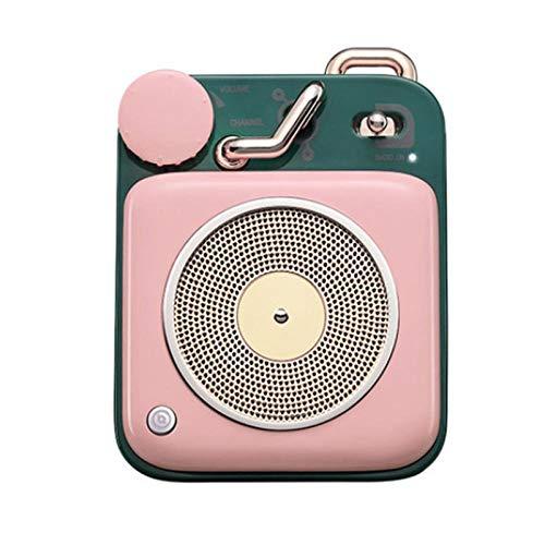 Atomic platenspeler Bluetooth Intelligent Audio Aluminium Mini draagbare luidspreker geschikt voor gezinnen of reizen, 5