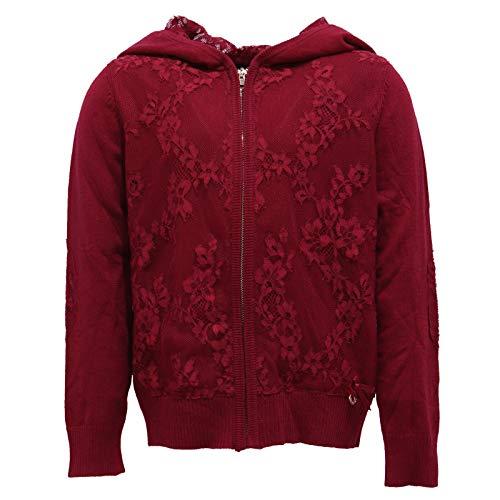 2261Y Cardigan Bimba Girl Twin-Set Simona BARBIERI Bordeaux Sweater