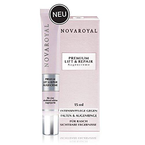 NOVAROYAL® Anti Aging Augenpflege | intensiv wiederaufbauende und glättende Augencreme | hochwirksam gegen Falten