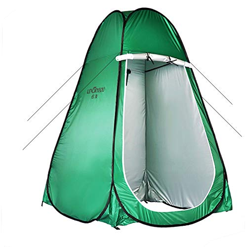 YANZHI Pop Up Sichtschutzzelt - sofort tragbares Outdoor Duschzelt, Camping Toilette, Umkleidekabine, Sonnenschutz mit Fenster - für Camping, Wandern - Einfach aufzubauen, Faltbar - Mit Tragetasche