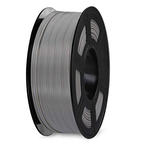 Filamento SPLA para impresora 3D de 1,75 mm, filamento SUNLU SPLA, precisión dimensional +/- 0,02 mm, carrete de 1 kg, SPLA 1,75 Gris