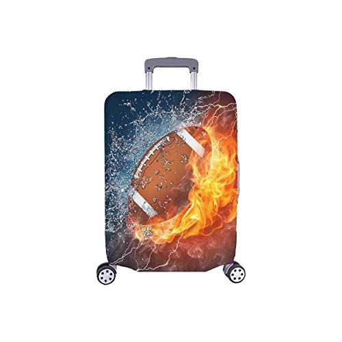 InterestPrint Cool American Football Ball Travel Luggage Protector Baggage Suitcase Cover Fits 18'-21' Luggage