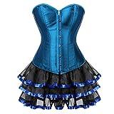 Nvfshreu Steampunk Gothic Ramillete Vestido Las Falda Mujeres De Enagua Tutu Estilo Simple Vintage Moda Raya Corsé Vestido De Fiesta Cintura Entrenamiento Belly Away Body Shaping Bustier