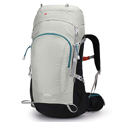 MOUNTAINTOP 50 Liter Hiking Camping Backpack with Rain Cover