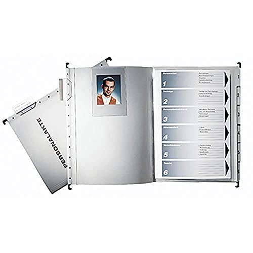 Leitz 300410085 Hängemappe Personalakte, 250 g Karton, für A4, grau