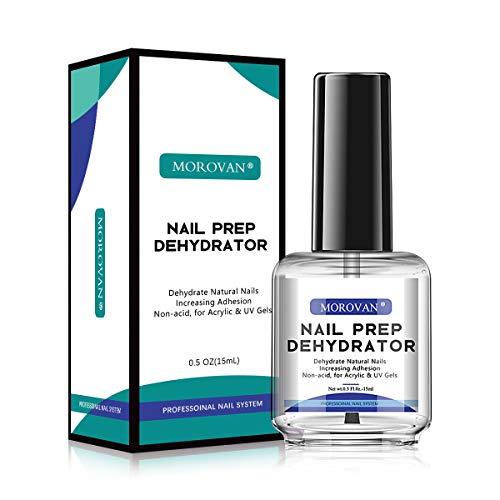 MOROVAN Professional Nail Polish Prep Dehydrator, Quick-drying Dehydrator Base Oil Nail Polish, for acrylic powder and gel nail polish, 0.5 oz -15ml 1pcs dual-use
