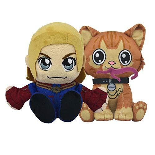 Bleacher Creatures Marvel Kuricha Bundle: Captain Marvel and Goose Kuricha Plushies