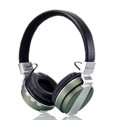 Zakk Hunter Wireless Bluetooth Headphones with Mic (Green)