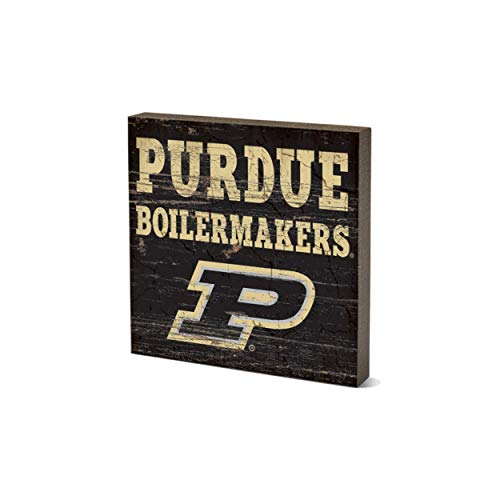 Wood One Size NCAA Legacy Purdue Boilermakers Table Top Square