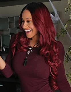red ombre lace front wig